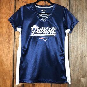 NFL Women's Team apparel patriots short sleeve Lg